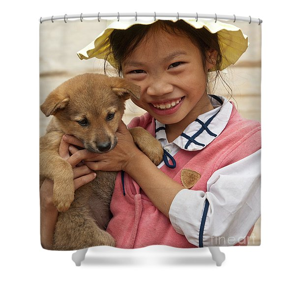 Vietnamese Girl 02 Shower Curtain