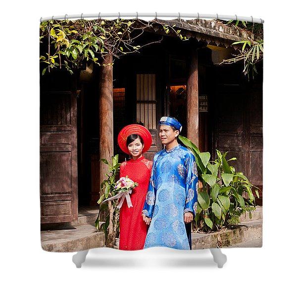 Vietnamese Wedding Couple 01 Shower Curtain