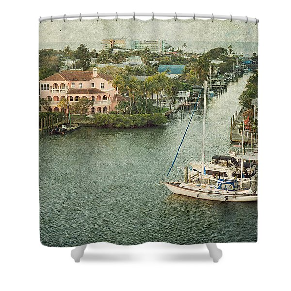 View At Fort Myers Beach - Florida Shower Curtain
