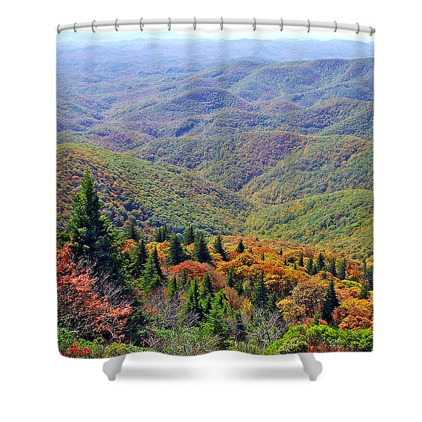 View From Devil's Courthouse Rock 2 Shower Curtain