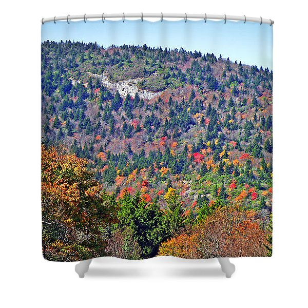 View From Devil's Courthouse Rock 4 Shower Curtain