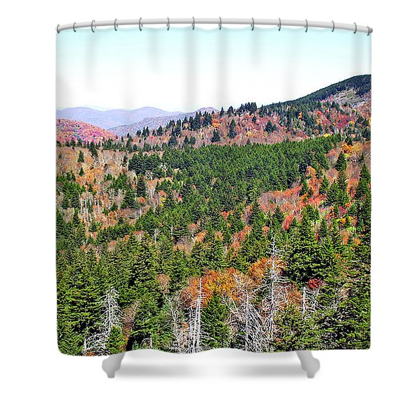 View From Devil's Courthouse Rock 5 Shower Curtain