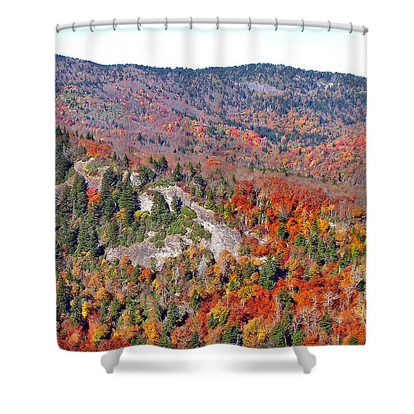 View From Devil's Courthouse Rock 6 Shower Curtain