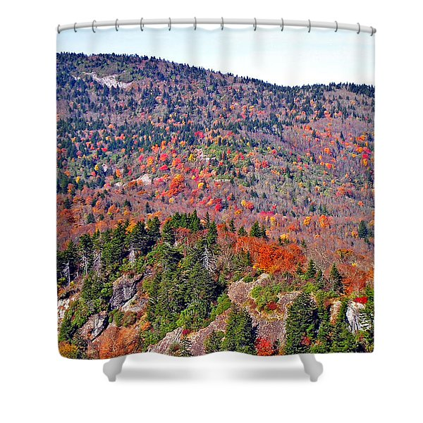 View From Devil's Courthouse Rock 7 Shower Curtain