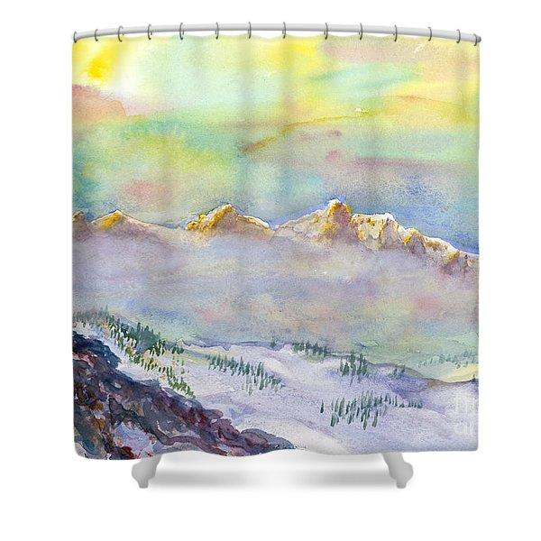 View From Snowbird Shower Curtain