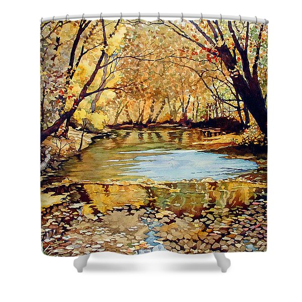 View From The Covered Bridge Shower Curtain