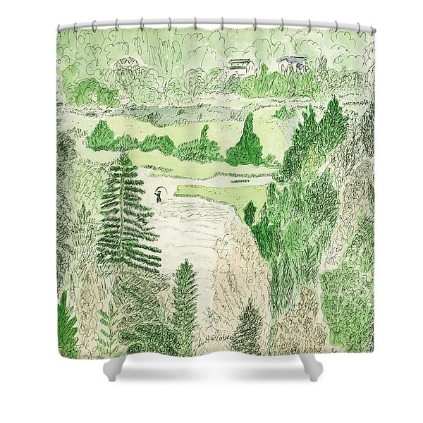 View From The Dam Shower Curtain