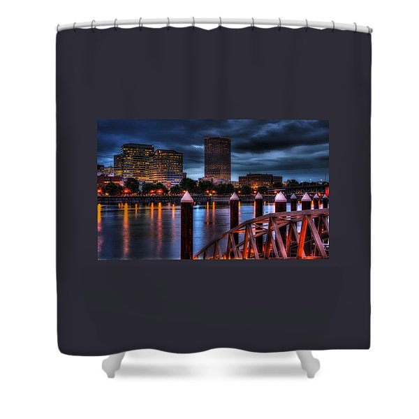 The Eastbank Shower Curtain