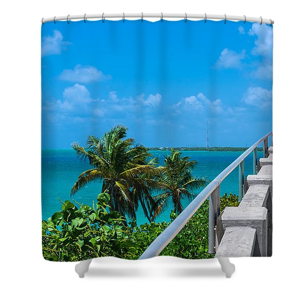 View From The Old Bahia Honda Bridge Shower Curtain