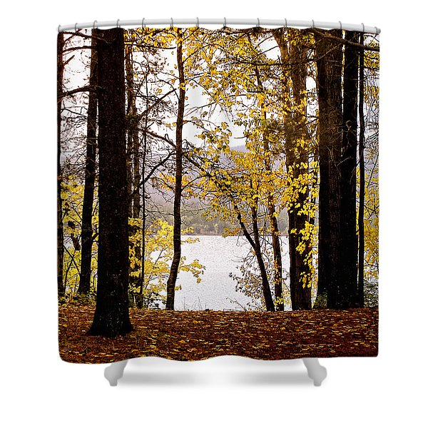 View Of  Lake Mcdonald Shower Curtain