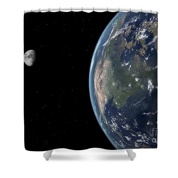 View Of North America With Rise In Sea Shower Curtain