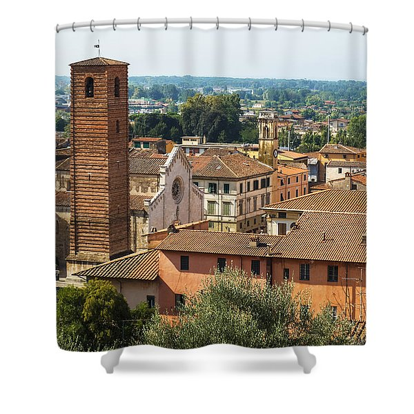 View Of Pietrasanta Shower Curtain