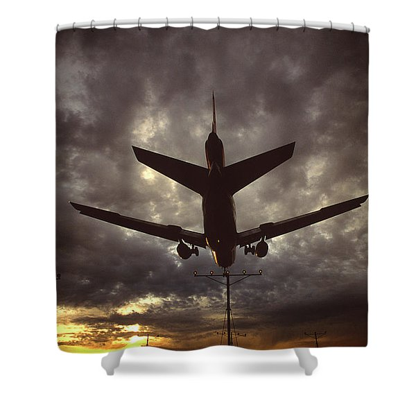 View Of Plane Shower Curtain