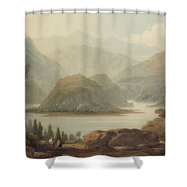 View Of The Mondego River Shower Curtain