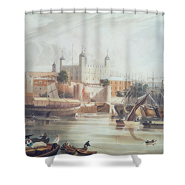 View Of The Tower Of London Shower Curtain