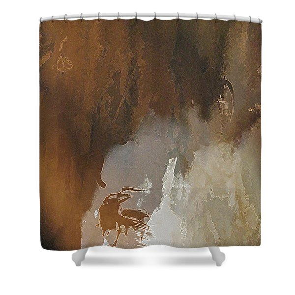 Vii - Mirky Wood Shower Curtain