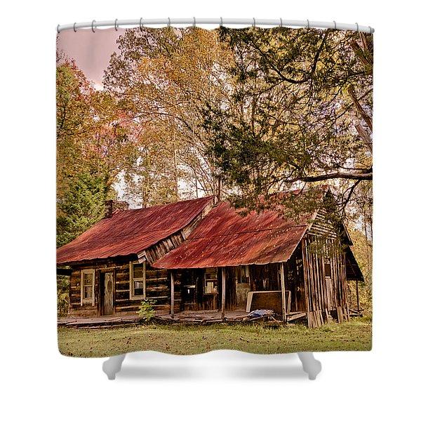 Viintage Cabin Shower Curtain