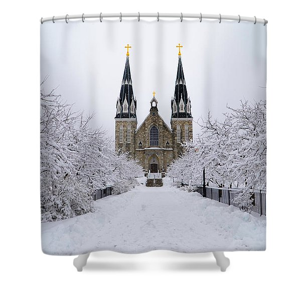 Villanova University In The Snow Shower Curtain