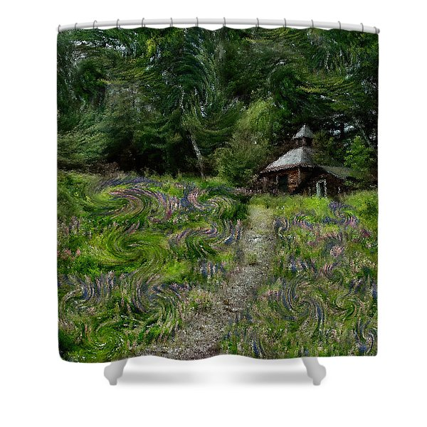A Lupine Tale  Vincents View Shower Curtain