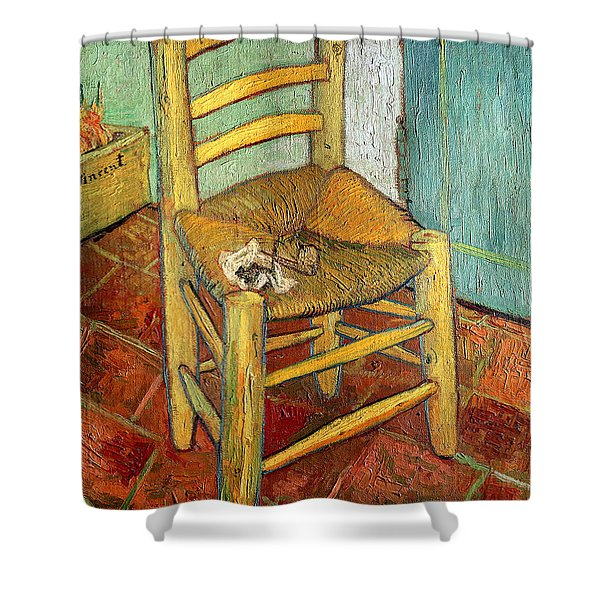 Vincent's Chair 1888 Shower Curtain