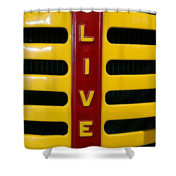 Vintage 1950 Oliver Tractor Shower Curtain