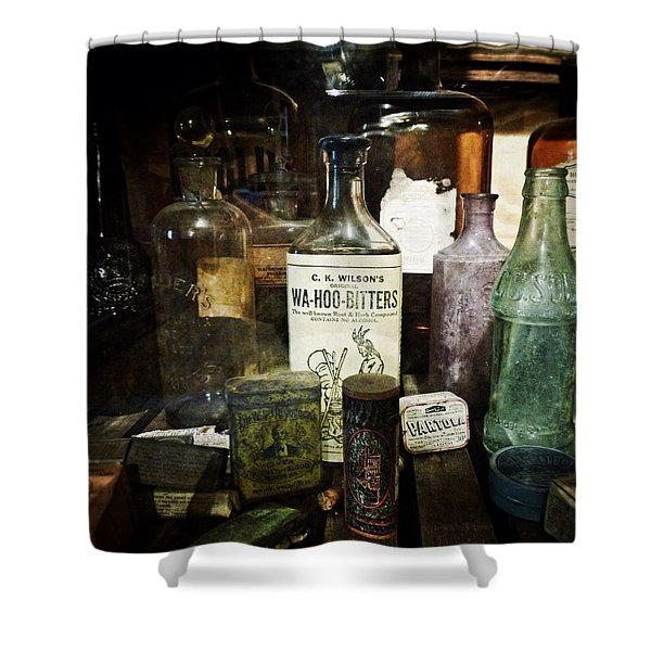Vintage Apothecary Shower Curtain