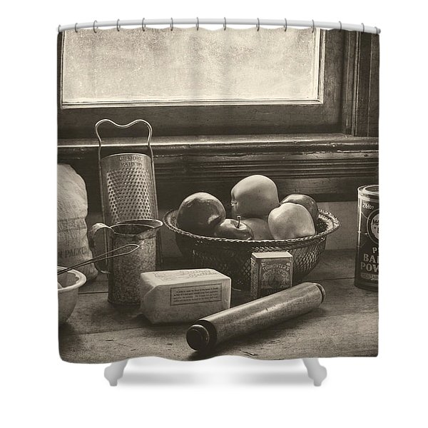 Vintage Art - All The Fixings Shower Curtain