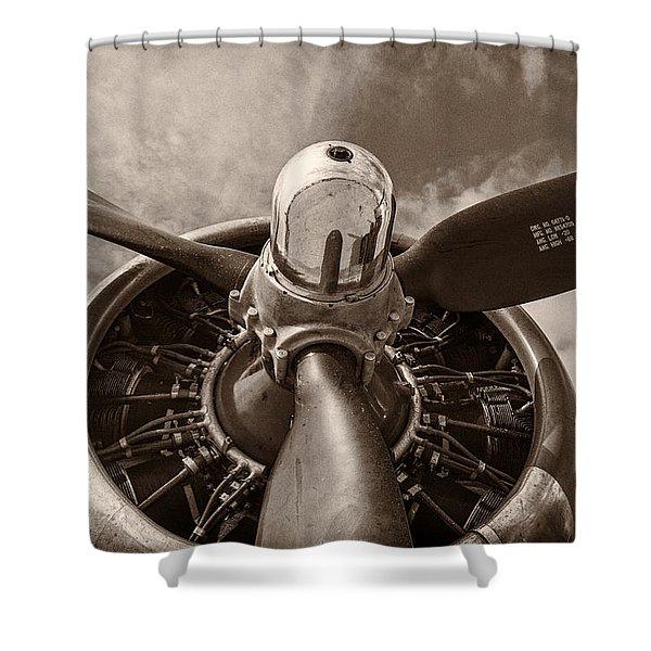 Vintage B-17 Shower Curtain