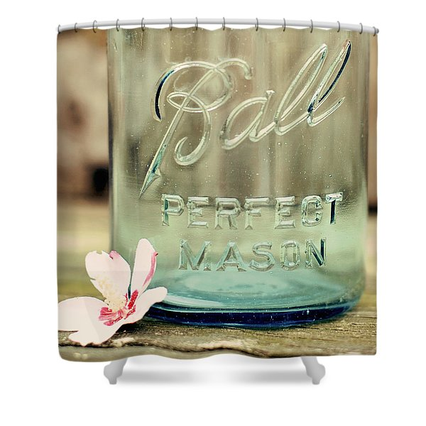 Vintage Ball Perfect Mason Shower Curtain