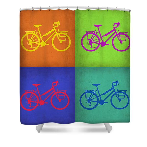 Vintage Bicycle Pop Art 1 Shower Curtain