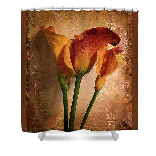 Vintage Calla Lily Shower Curtain