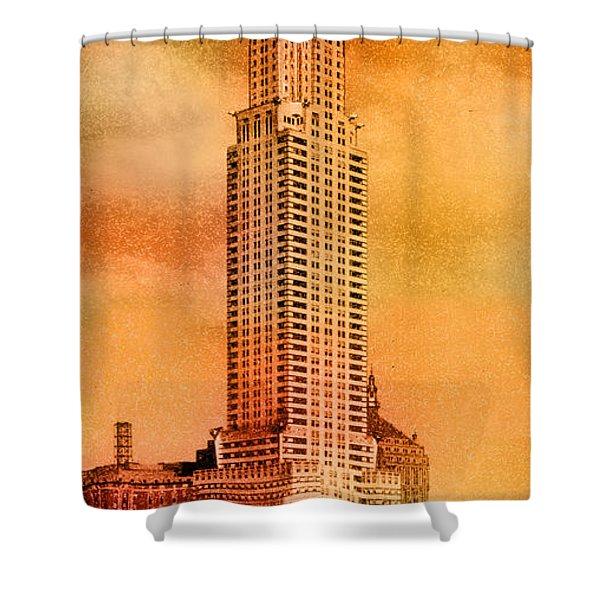 Vintage Chrysler Building Shower Curtain