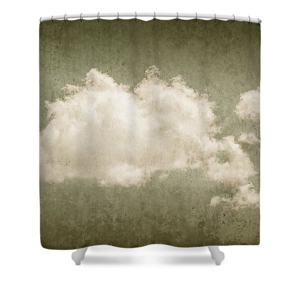 Vintage Clouds Background Shower Curtain