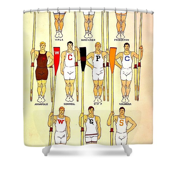Vintage Crew Poster Shower Curtain
