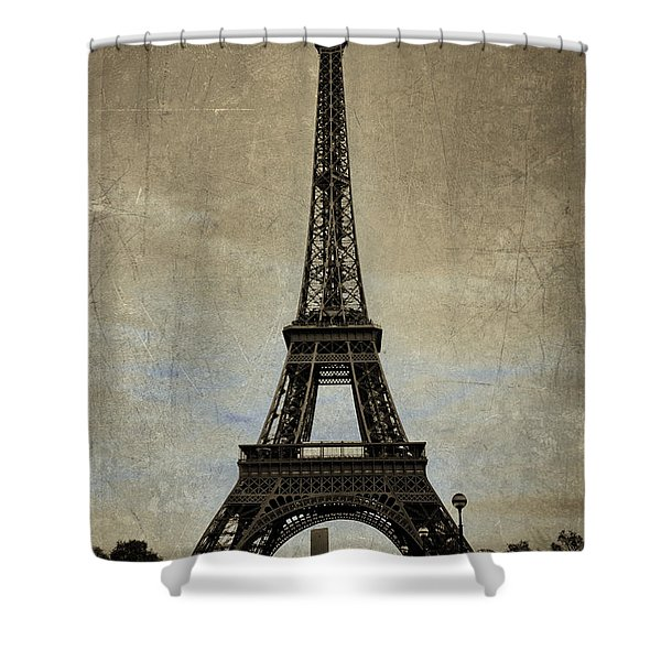 Vintage Eiffel Bronze Shower Curtain