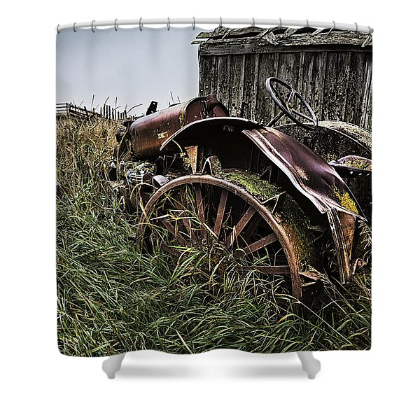 Vintage Farm Tractor Color Shower Curtain