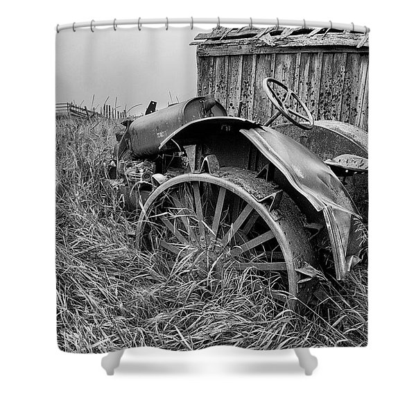 Vintage Farm Tractor Shower Curtain