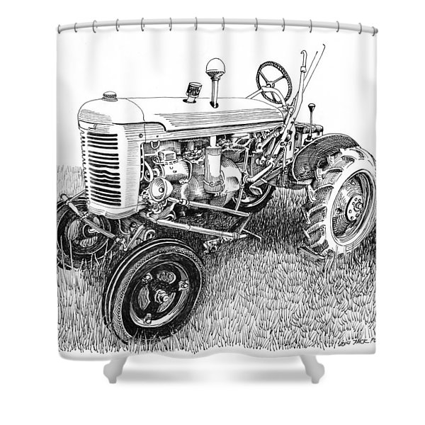 Vintage Farmall  I H W 6 Tractor Shower Curtain