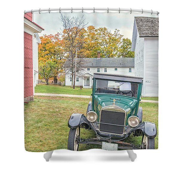 Vintage Ford Model A Car Shower Curtain