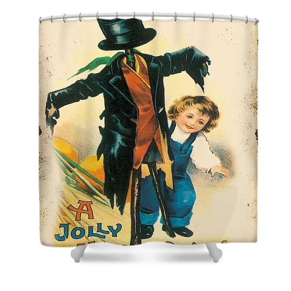 Vintage Halloween-b Shower Curtain