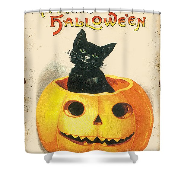 Vintage Halloween-k Shower Curtain