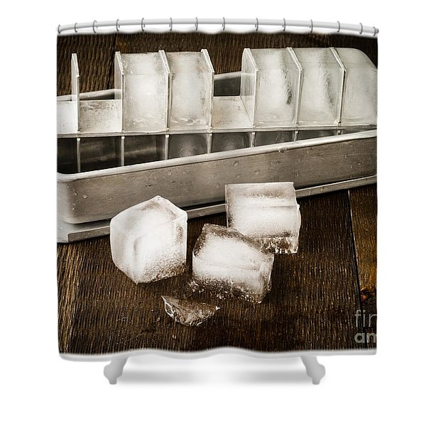 Vintage Ice Cubes Shower Curtain