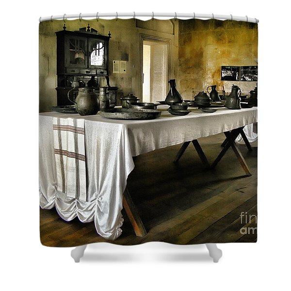 Vintage Interior Kitchen Shower Curtain