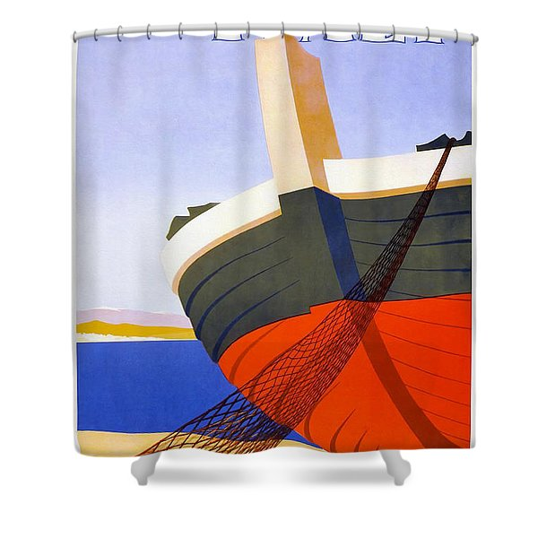 Vintage Italy Travel Poster Shower Curtain
