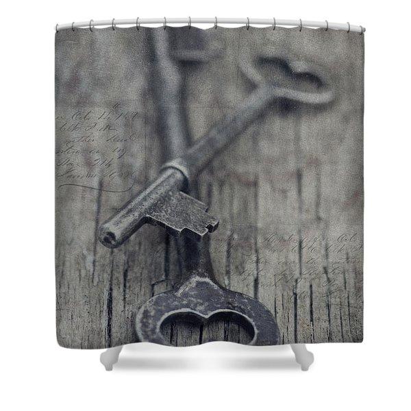 Vintage Keys Shower Curtain