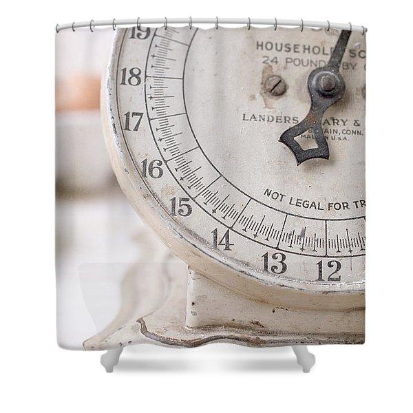 Vintage Kitchen Scale Shower Curtain