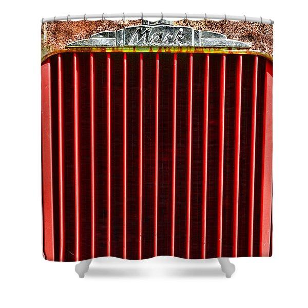 Vintage Mack Grill Shower Curtain