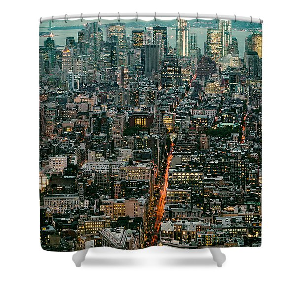 Vintage New York Skyline Shower Curtain