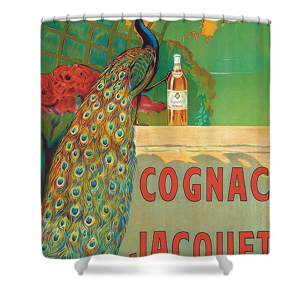 Vintage Poster Advertising Cognac Shower Curtain
