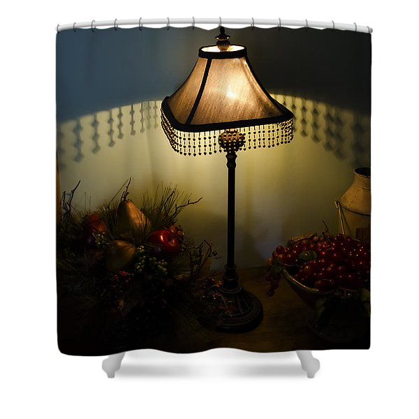 Vintage Still Life And Lamp Shower Curtain